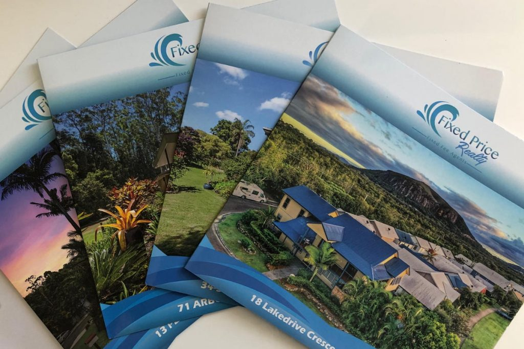 Brochures and printed marketing real estate Sunshine Coast Property advertising package