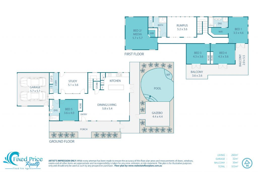House Plan - Fixed Price Realty Property advertisement package